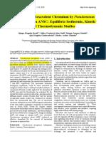 2018 Biosorption of Hexavalent Chromium by Pseudomonas-OK