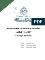 """INFORME GEOLOGÍA DE MINAS Aseguramiento de calidad y control de calidad """"QA-QC"""".docx"""