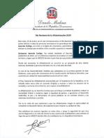 Mensaje del presidente Danilo Medina con motivo del Día Nacional de la Alfabetización 2020