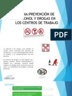 PREVENCIÓN DE ALCOHOL Y DROGAS EN LOS CENTROS DE TRABAJO