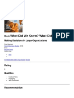What Did We Know - What Did We Do - (Toma de Decisiones).docx