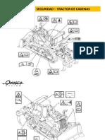 Tractor de Cadenas D8T - Etiquetas de Advertencia