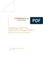 'Declining Child Care Options for Young Children' by The Children's Agenda