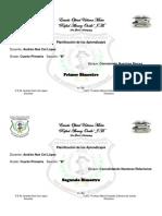 Caratula de Bimestres de  Planificacion 2017