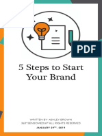 5 steps to a strong brand - interactive