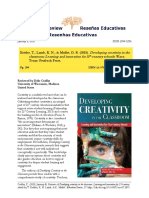Review_Developing creativity in the classroom Learning and innovation for 21st-century schools