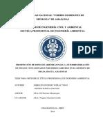 PROSPECCIÓN DE ESPECIES ARBÓREAS PARA LA FITORREMEDIACIÓN