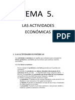 Tema 5. Las Actividades Económicas