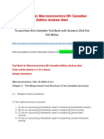 Test Bank for Macroeconomics 8th Canadian Edition Andrew Abel