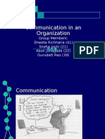 Communications in an Organization