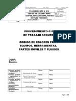 PTS - 010 CODIGO DE COLORES PARA EQUIPOS Y HERRAMIENTAS  Rev. 2 - octubre 2019