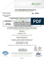 Certificado-THHN-CONDUMEX 2022