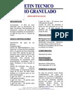 BOLETIN TECNICO cloro granulado