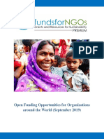 Open Funding Opportunities for Organizations around the World (September 2019)