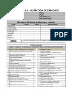 Apendice 6.1. Formato de Inspeccion de Taladros