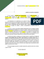 Carta solicitando elaborar Declaracion Anual