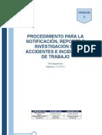 PROCEDIMIENTO DE REPORTE E INVESTIGACIÓN DE ACCIDENTES E INCIDENTES DE TRABAJO