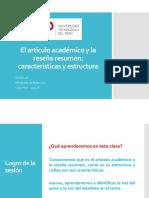4A- El artículo académico y la reseña resumen.pptx