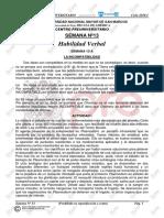 SOLUCIONARIO-SEMANA N° 13 - ORDINARIO 2019 - I