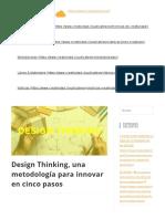 Thinking una metodología para innovar