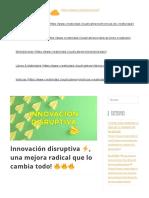 Innovación disruptiva  una mejora radical que lo cambia todo