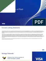 Visa Inc. to Acquire Plaid Presentation