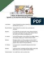 Transcript - I Hear of Sherlock Everywhere Episode 12