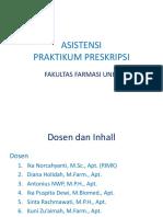 Asistensi Praktikum Preskripsi 18192.ppt