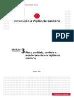 Módulo 3 - Risco sanitário controle e monitoramento em Vigilância Sanitária