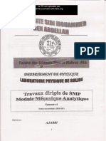 TD Mecanique analytique SMP  S4