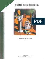 Richard Raatzsch - Filosofía de la filosofía