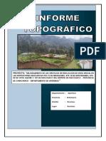 INFORME TOPOGRAFICO- ROCCHACC