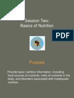 Session 2 Basics of Nutrition