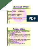 Clase de Bases de Datos I - Univalle