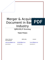 Team _ Finacs_Mergers & Acquisition Document in Banking Industry