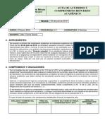 ACTA DE COMPROMISO Y ACTIVIDADES EXAMEN REMEDIAL 2018-2019 1C