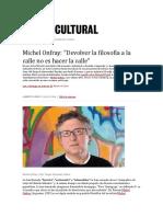 entrevista a Michel Onfray