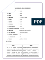 PLAN  DE MEJORA   DE LOS  APRENDIZAJES 2019