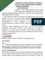 Missa de São Francisco de Assis 2019