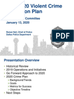 Dallas Police Violent Crime Reduction Plan