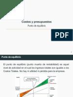 COSTOS Y PRESUPUESTOS - PUNTO DE EQUILIBRIO.pdf