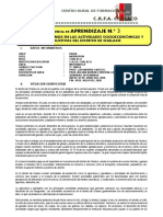 EXPERIENCIA DE APRENDIZAJE N° 3 MATEMATICA CRFA 5°