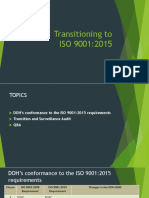 Transitioning to ISO 9001.2015 guidelines