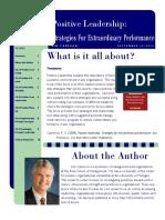 Postive Leadership-Strategies for Extraordinary Performance.Cameron.EBS