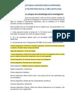 Lineamientos para coloquio de metodología de la investigación