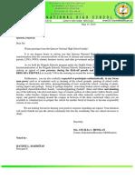 QNHS-Letter, brigada