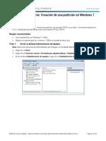 Practica de laboratorio 23 - Creación de una partición en Windows 7.pdf