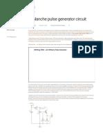 Avalanche pulse generator circuit |