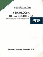 Psicología de La Escritura - F. Cuetos Vega