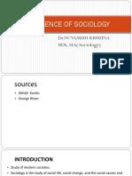 EMERGENCE OF SOCIOLOGY (1)